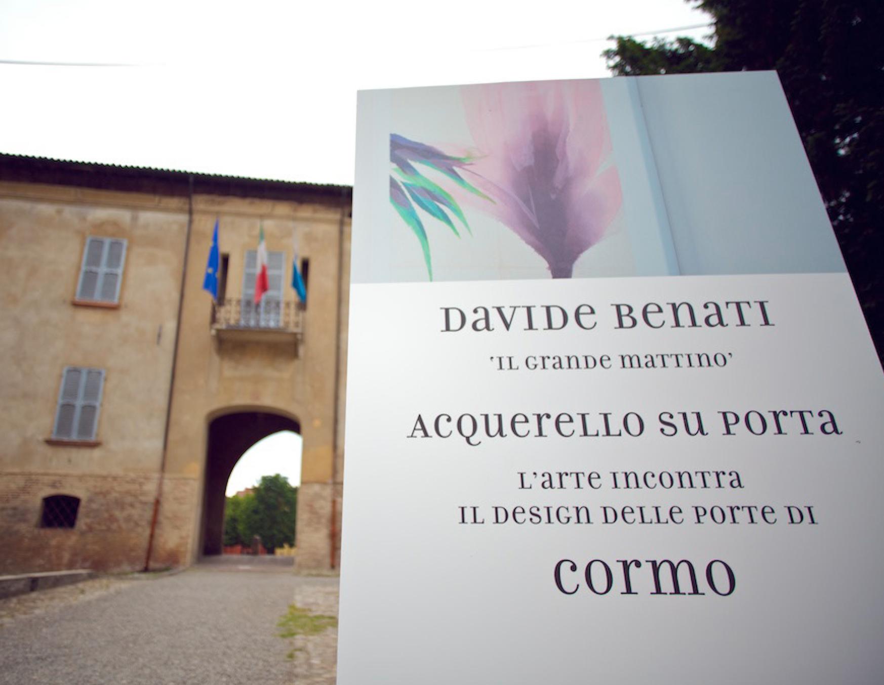Cormo - Acquerello su porta Benati